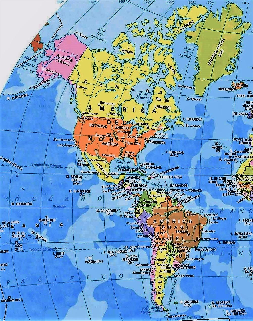 mapa america politico
