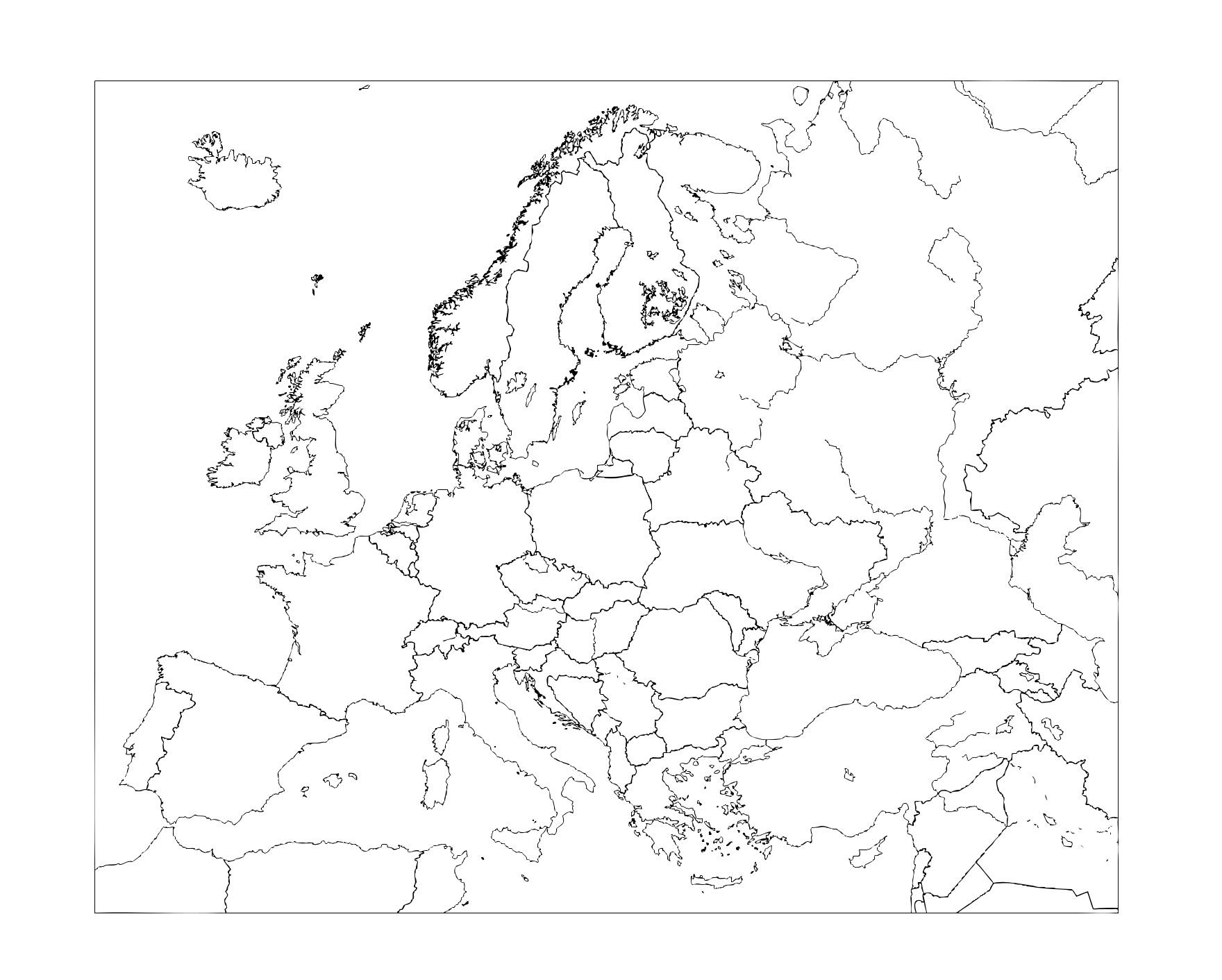 Mapa Mudo De Europa Politico.Mapa De Europa Politico Fisico Mudo Estan Todos