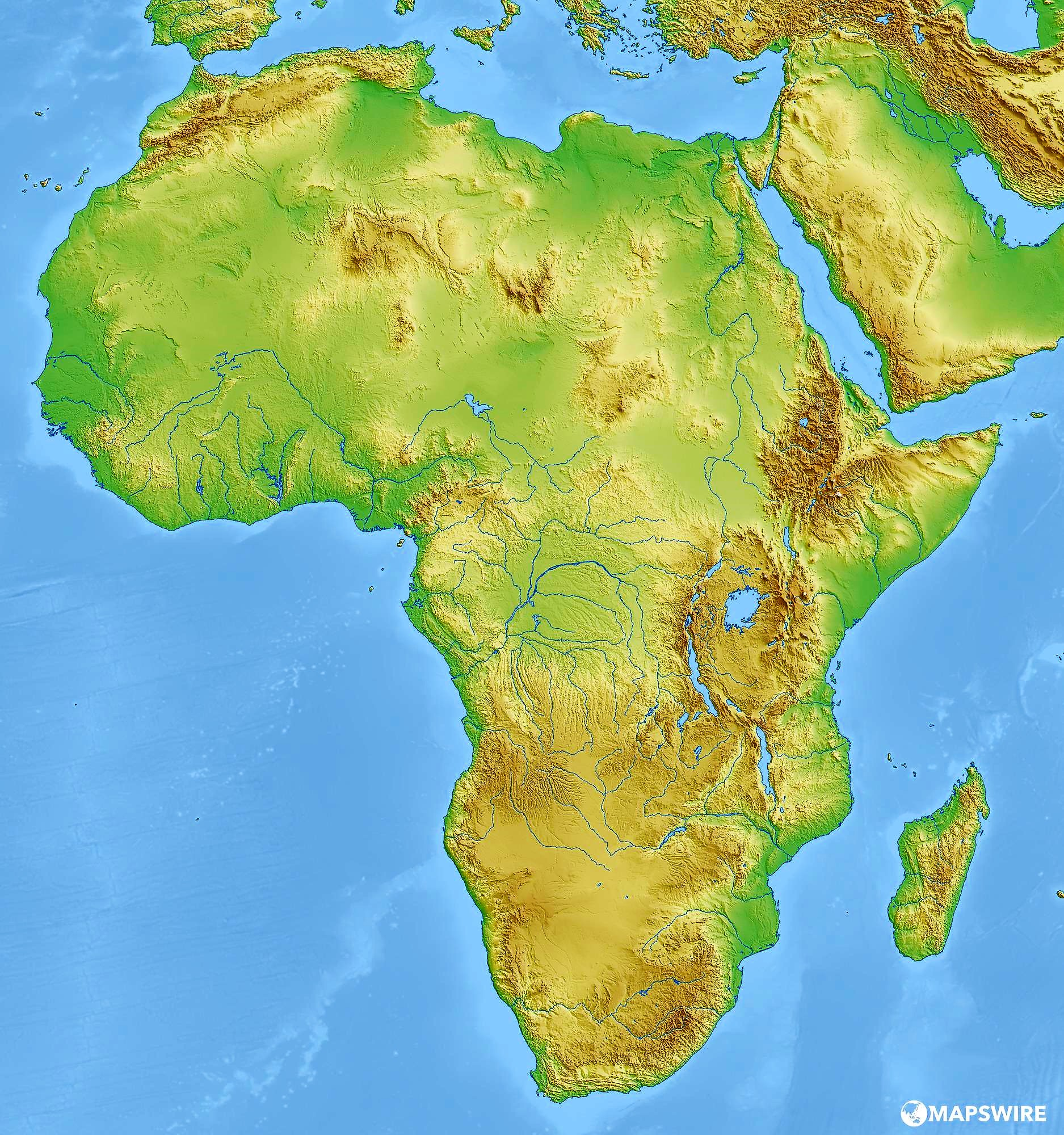 mapa mudo africa