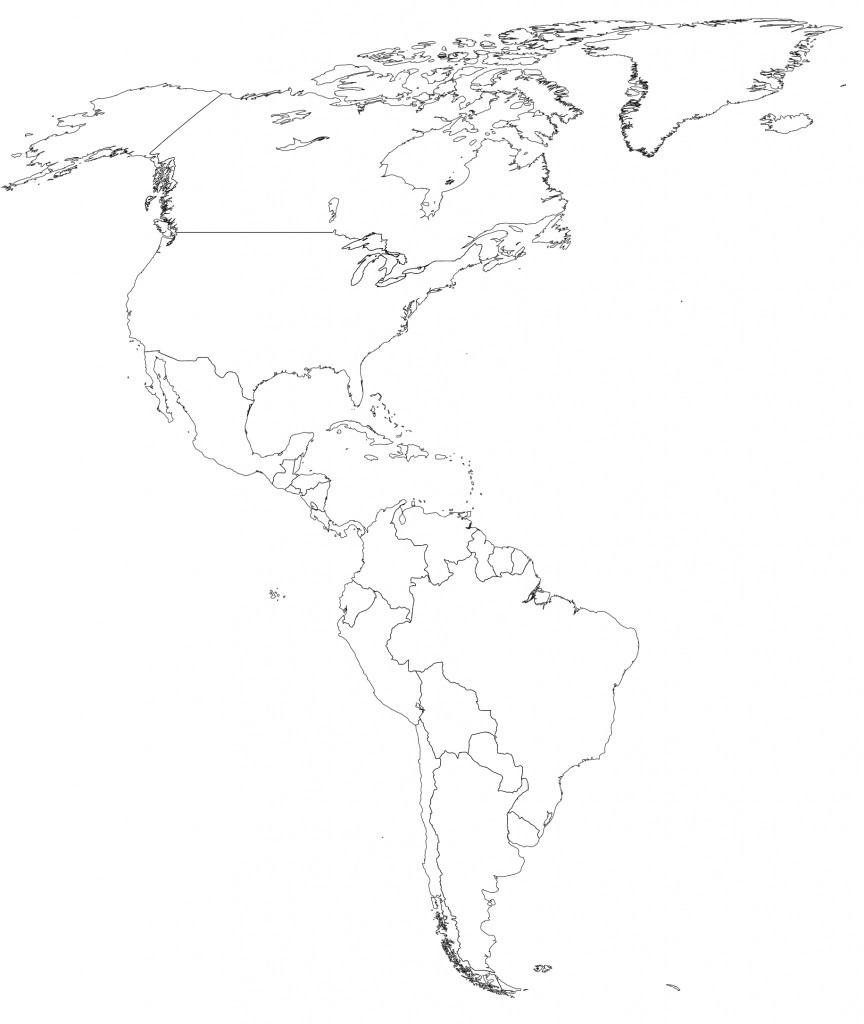 mapa continente americano