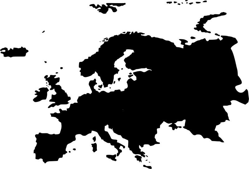 Mapa De Europa Político Físico Mudo Están Todos